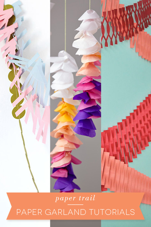 Paper trail – DIY paper garland tutorial – carriecanblog